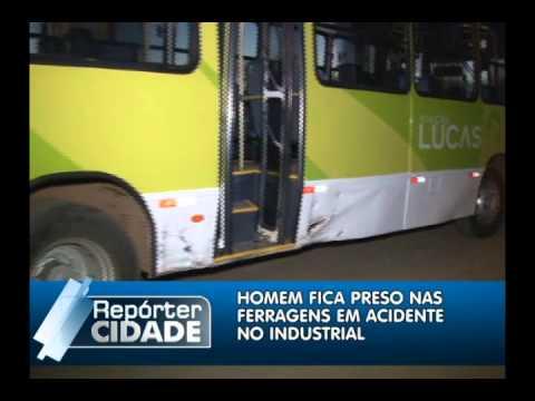 Acidente grave entre um Ônibus e carro deixa uma pessoa ferida em Lucas do Rio Verde