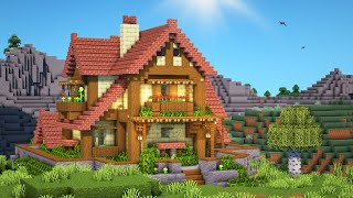 Minecraft: How to Build a Large Mansion (Minecraft Brick Cottage) Tutorial