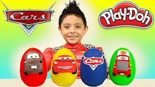 Disney Pixar Cars 3 Play-Doh Surprise Opening Lightning McQueen Kids Toys Juguetes Race Cars trailer