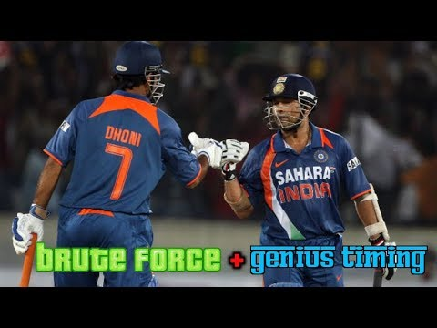 Video Tendulkar and Dhoni Epic Explosive Onslaught | Classic Combination of Brute Force and Genius Timing! download in MP3, 3GP, MP4, WEBM, AVI, FLV January 2017