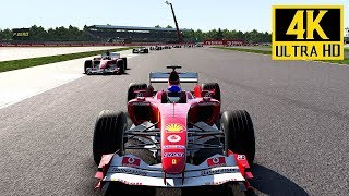 ►► Select 2160p HD for Best Quality ◄◄F1 2017 gameplay with the Ferrari F2004 on the track Silverstone in Great Britain.Win the 2017 World Championship, break every record in the fastest ever F1 cars, and race some of the most iconic F1 cars of the last 30 years. With an even deeper ten year Career, more varied gameplay in the new 'Championships' mode, and a host of other new features, both online and offline, F1 2017 is the most complete and thrilling F1 videogame ever.Twelve classic F1 cars to take control of including 4 classic McLaren's.1988 McLaren MP4/4 – as driven by Alain Prost and Ayrton Senna during the 1988 Formula 1™ season. The Honda-powered MP4/4 is one of the most iconic and dominant Formula One cars ever built, winning all but one race (15 out of 16) and claiming all but one pole position in the 1988 season. It was the car that powered Senna to his first world championship title.1991 McLaren MP4/6 - During the 1991 season, this was driven by the then reigning World Champion Ayrton Senna and Gerhard Berger, and was considered by some to be the most competitive car ever at the time, taking eight wins and ten pole positions, and scored 148 points, with Senna winning his third and final world championship title.1998 McLaren MP4-13 - In the 1998 F1™ season the MP4-13 was driven by Mika Häkkinen and David Coulthard and again proved to be the dominant car of the season, with Häkkinen winning his first Drivers' Championship, and McLaren's securing their first constructor's title since 1991.    2008 McLaren MP4-23 – the MP4-23 was driven by Lewis Hamilton and Heikki Kovalainen in the 2008 season, and is notable for being the car in which Hamilton won his first World Drivers' Championship in dramatic fashion at the Brazilian Grand Prix by overtaking Toyota's Timo Glock on the final corner of the final lap of the final grand prix of the season, to claim the required 5th-place finish and win the Drivers' title by a single point from Ferrari's Felipe Massa, and b