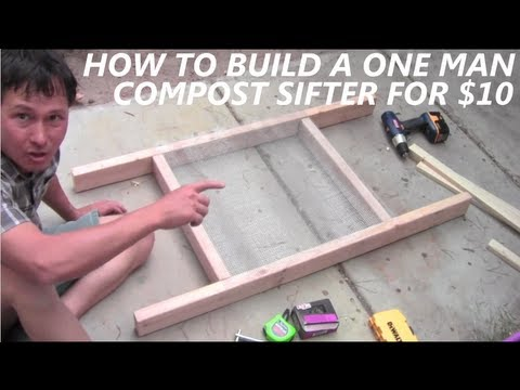 How to Build a DIY Compost Sieve aka Soil Sifter for $10