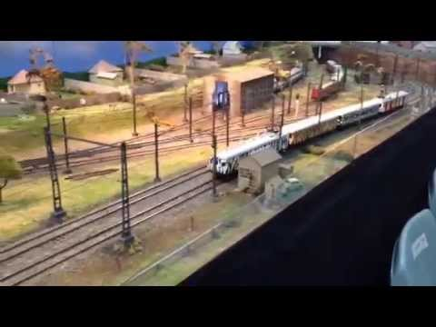 Zoo Train On The Electric Car Sheds Layout At AMRA Liverpool 2014 Exhibition