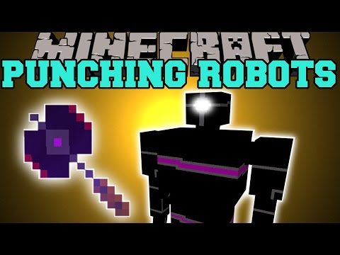 Minecraft: PUNCHING ROBOTS (NEW ROBOTS, QUEEN'S BATTLE AXE, & MORE!) Mod Showcase