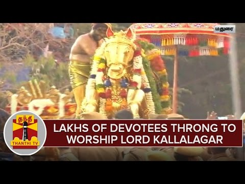 Lakhs-Of-Devotees-Throng-To-Worship-Lord-Kallalagar-Enter-Into-Vaigai-River