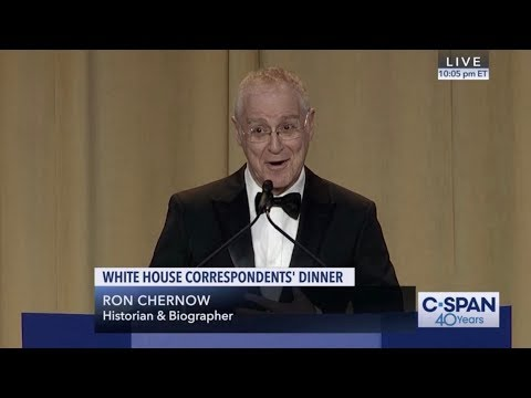 Ron Chernow COMPLETE REMARKS at 2019 White House Correspondents' Dinner (C-SPAN)