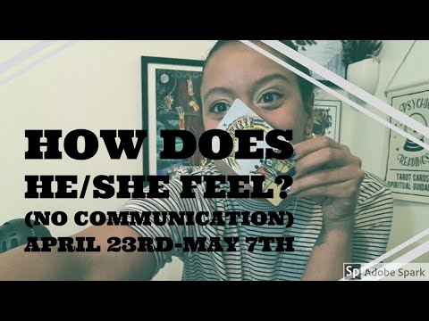 How does he/she feel ✨No Communication 💖 LOVE Tarot reading ✨April 23rd-May 7th✨