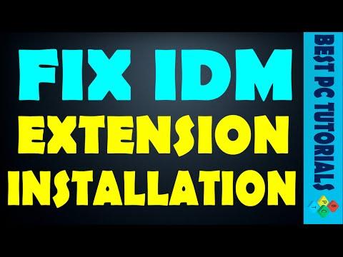 Fix IDM extension installation in Google Chrome