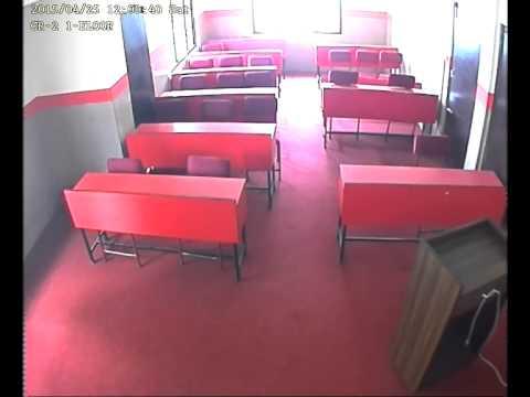 Earthquake 2015 - Classroom at NCMT