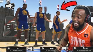 Trash Talking With NBA Superstars Curry And Durant In The Park! NBA 2K19 Park | Court Conquer