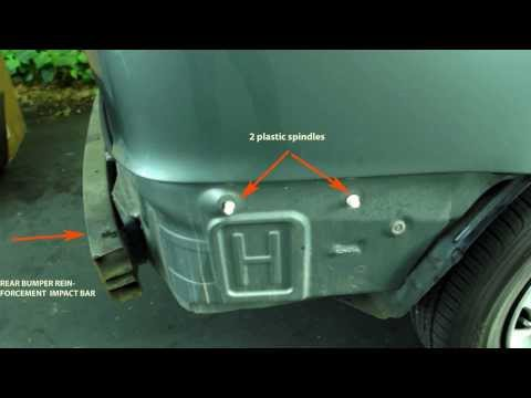 2000 Toyota Sienna rear Bumper cover replacement (1998-2003)