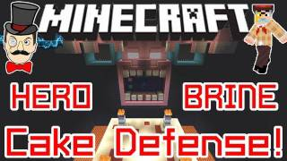 Minecraft HEROBRINE CAKE DEFENSE Game Map ! He Wants Your Cake - Stop Him!