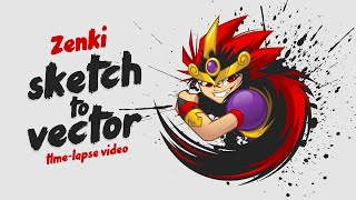Zenki | Sketch to Vector Timelapse Video