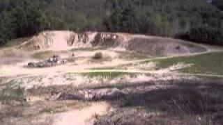 10. 2003 kawasaki bayou 250 up steep hill