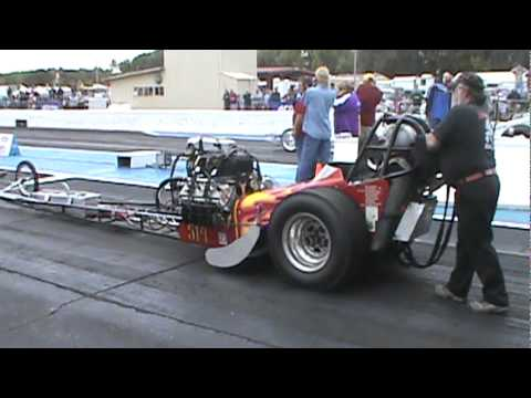 Blown Nitro Top Fuel Diggers (Telstar) Trying To Find Some Traction At Central Illinois Dragway!!