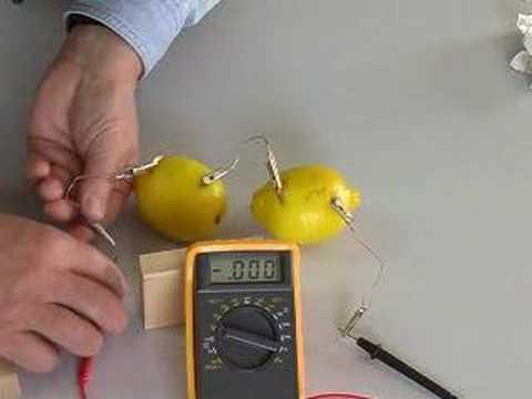 Φτιάξτε μπαταρίες από λεμόνι, πατάτες, κλπ!
