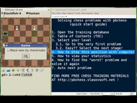 Video of pbchess - chess training