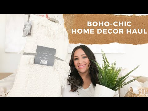Home Decor Haul | Boho-chic Inspired