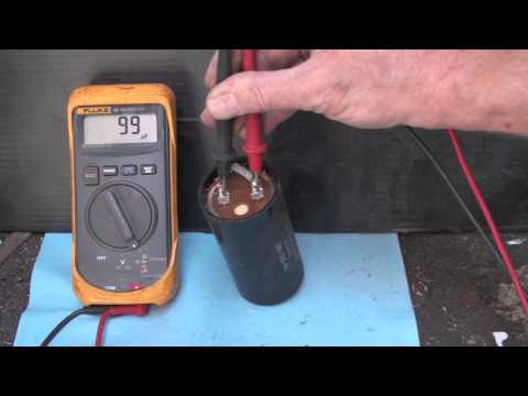 Testing the start capacitor
