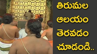 Video Tirumala Devasthanams Sri Venkateswara Swamy temple opening video MP3, 3GP, MP4, WEBM, AVI, FLV Juli 2018