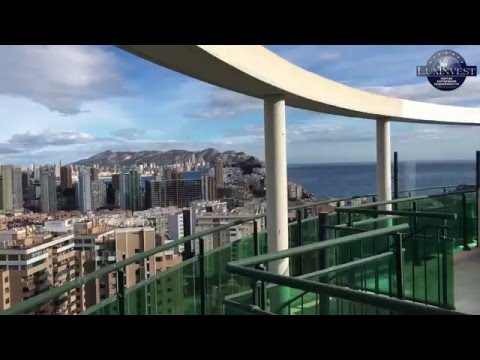 Buy an inexpensive penthouse overlooking the sea in Benidorm. Property in Spain