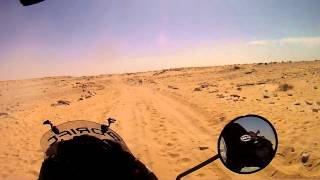 border crossing Western Sahara - Mauretania on Honda transalp 650.wmv