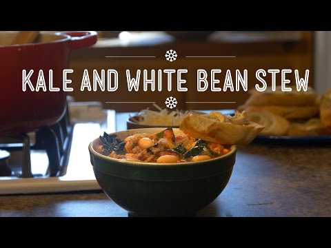 "SKI - A hearty, simmering stew is the perfect way to feed a crowd coming in from the cold. Kale and White Bean Stew is savory and light, and the perfect ""dip"" for fresh garlic toast. FULL RECIPE..."