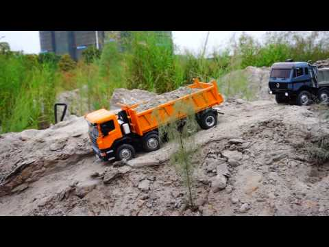 RC CONSTRUCKTION ZONE, RC TIPPER 8X8, RC ROADWORKER, LESU MODEL RACING
