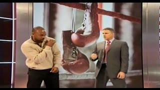 Roy Jones Jr Demonstrates Fight Tactics For Floyd Mayweather&Manny Pacquiao 4/1/15