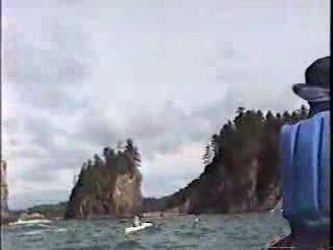 sea kayaking and canoeing off La Push, Washington