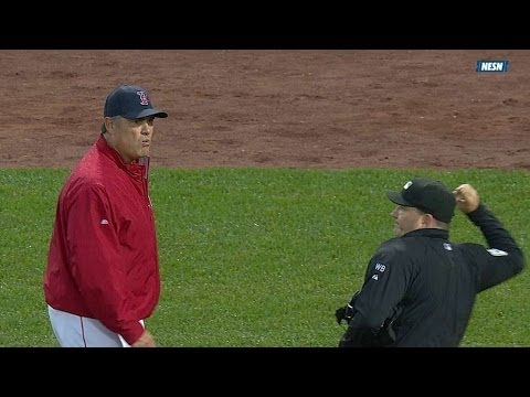TB@BOS: Farrell ejected in 1st after warning