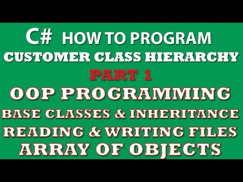C# Programming Challenge: Customer Classes Part 1 (C# inheritance, C# OOP, C# arrays of objects, C# Properties)