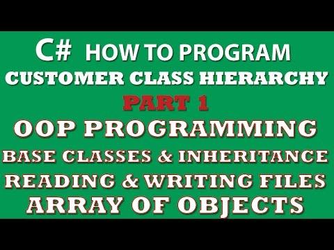 C# Programming Challenge: Customer Classes Part 1 (C# inheritance, C# OOP, C# arrays of objects, C# Properties)