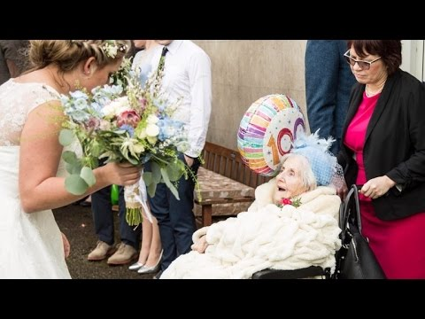100 Year-old Grandmother Is Bridesmaid At Granddaughter's Wedding