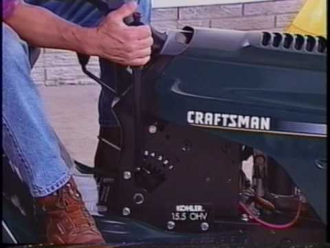 Craftsman - This was ripped from a VHS tape that came with Craftsman tractors as a supplement to the owner's manual. Here's part 2: http://www.youtube.com/watch?v=FvC_6U...