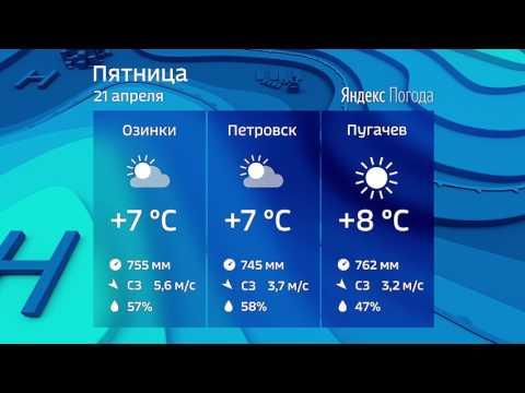 Прогноз погоды на 21.04.2017