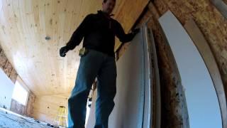 Installing Sheetrock
