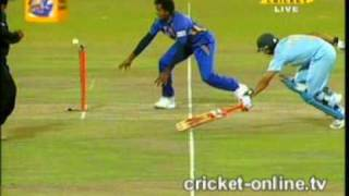 First T20-20 match on srilankan ground........pathan brothers from india side did fantastic job....