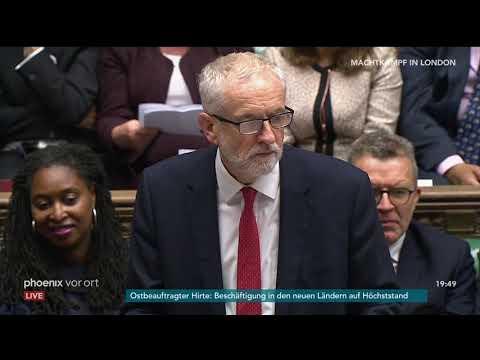Brexit: Rede von Jeremy Corbyn (Parteivorsitzender Lab ...