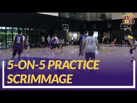Video: Lakers Practice: 5-on-5 Scrimmage Footage At the End of Practice