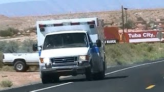 Tuba City (AZ) United States  city images : Navajo Nation EMS ambulance driving in Tuba City [AZ | 7/2011]