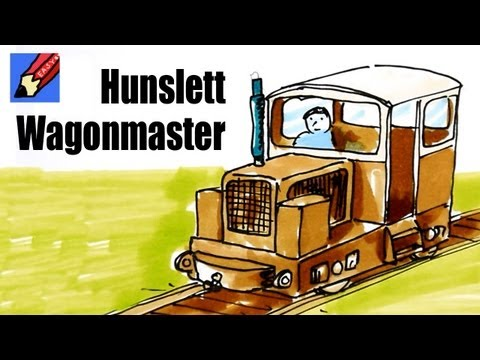 How to draw a Hunslett Wagon Master Train Engine - Bord Na Mona