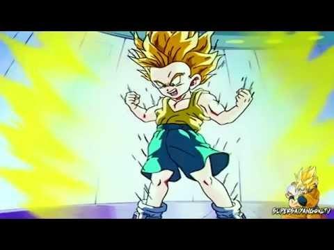 Kid Trunks Turns Super Saiyan for the First Time [Kid Trunks vs. Vegeta] (True 1080p HD)