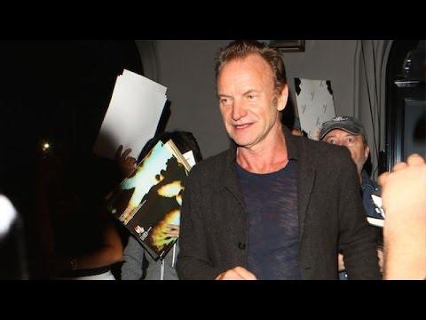 Sting Laughs Off Donald Trump Questions At Craig's