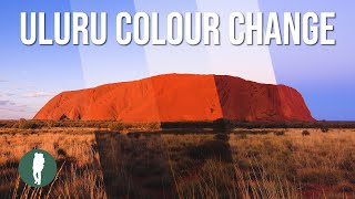 Uluru / Ayers Rock Changing Colour in 4K, sunset time lapse