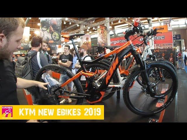 Электробайки КТМ модельного ряда 2019 года, на выставке Eurobike 2018.