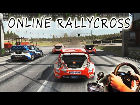 DiRT Rally Online PvP multiplayer - rallycross. Steering Wheel gameplay, Full HD