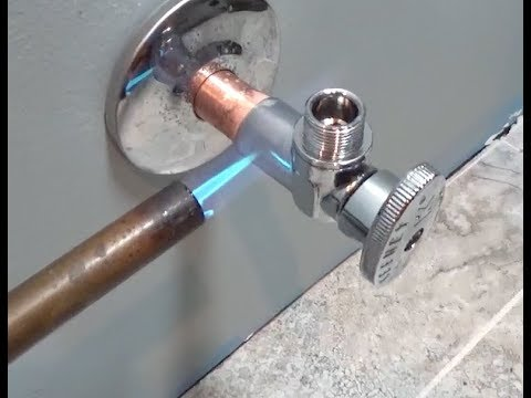 How to Sweat on a Valve - Water Valve Installation