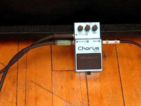 Jason Crawford: 8-string guitar.Vintage Boss Chorus CE-3 pedal demo