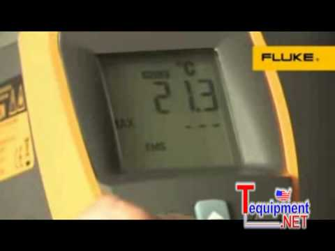 Fluke 561 Infrared and Contact Thermometer with K-type thermocouple capability